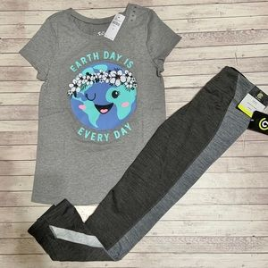 NEW! Size 10/12 Girls active wear pants and shirt